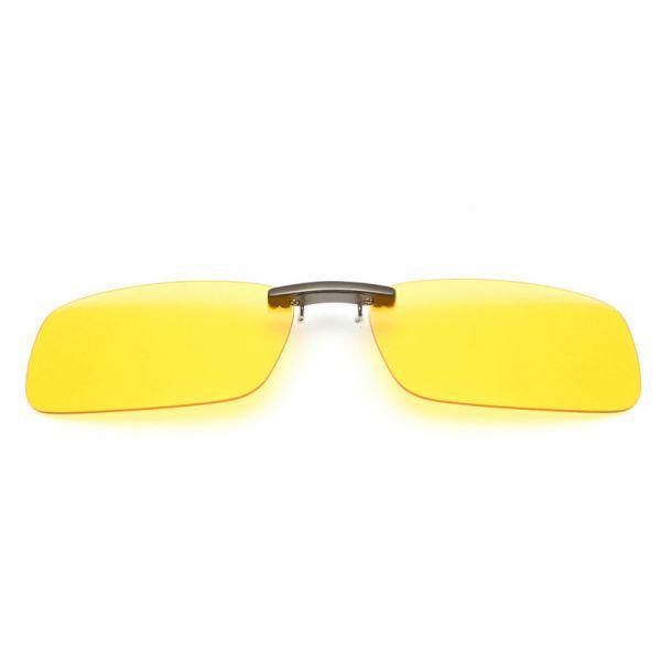 55bcd6fe7 Lentes / Clip de Visão Noturna para sobrepor óculos de grau - Polarizadas -  Amarelo Claro