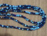 T6 Cristais Cor Azul Mesclado Tam 6 (apx 90 unidades)