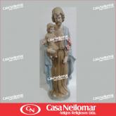 080002 - Imagem de Louça Jesus com Menino