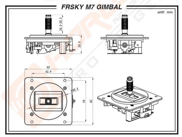FrSky M7 Hall Sensor Gimbal for FrSky Taranis Q X7 (01 peças)