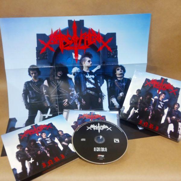 CD - Sarcófago - INRI - Capa Azul Slipcase com poster