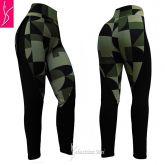 legging montaria(P-M-G), suplex preto e estampado verde militar