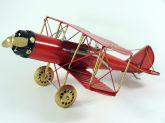 Miniatura Avião De Guerra Retro Em Lata - Decoração/coleção