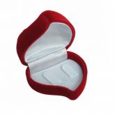 Estojo de veludo para alianças em Uberlândia, modelo ES002, no formato coração