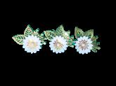 Kit Flores de Papel Azul Bebe 3un