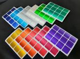 Adesivo 3x3 57mm Metalico ACETINADO com 11 cores