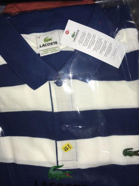 Camisa polo Lacoste listrada - 100% original - Casual Importados 4b28ae11a940e
