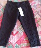 Calça canelada preta