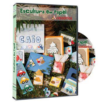 DVD Escultura em Papel - Acessórios
