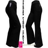 calça feminina preta(GG-46) com bolso faca, flare ou reta, tecido jacquard piquet com relevo