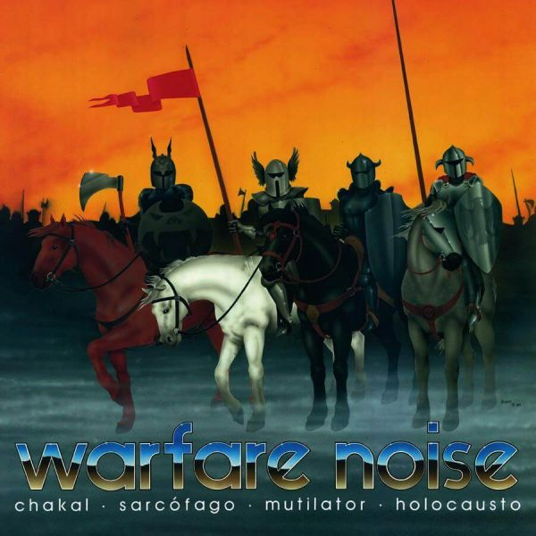 WARFARE  NOISE  I  - Mutilator / Sarcófago / Chakal / Holocausto – Split Slipcase CD