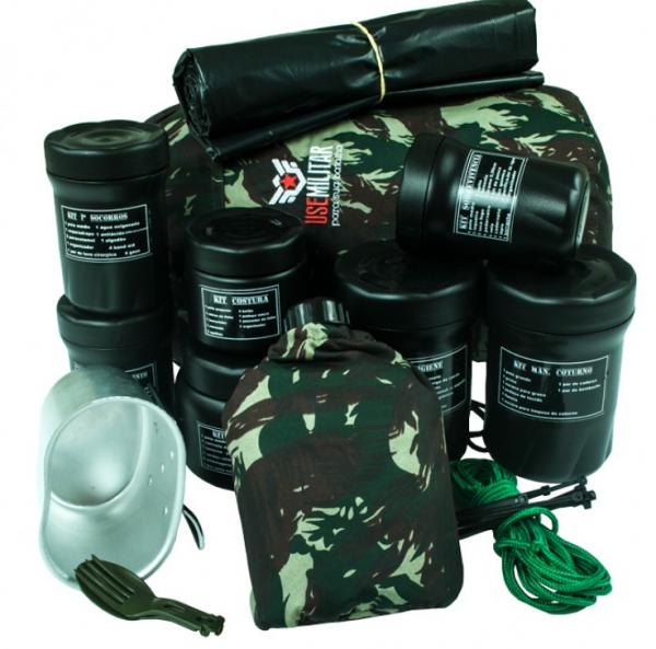 Kit Sobrevivência SWAT Militar + de 120 ítens