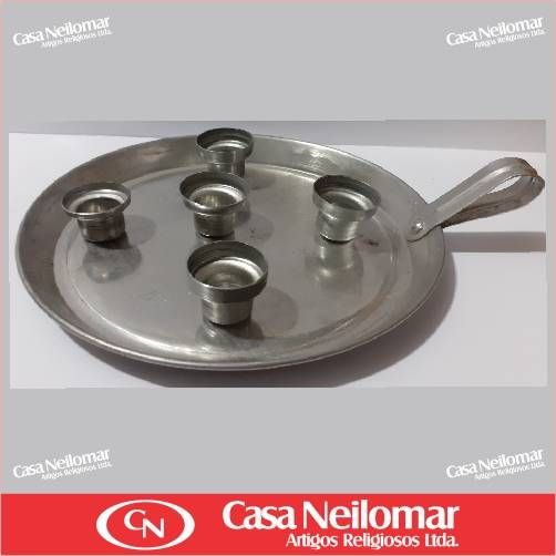 004006 - Castiçal de Alumínio para 5 velas
