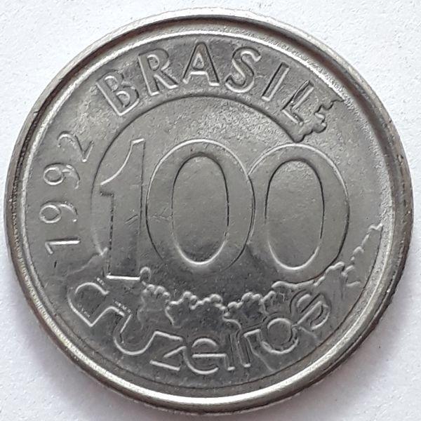 100 Cruzeiros 1992 SOB/FC