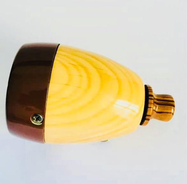 Microfone Turner custom textura knob Wood , cápsula CM vintage dec. 70 Forte com muita presença