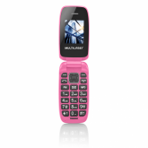 Celular Multilaser Flip Up, Câmera, MP3, Dual Chip - Rosa