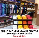 Mini Loja 3 - 100 Peças + 50 Sacolas Variadas - FRETE GRÁTIS PAC