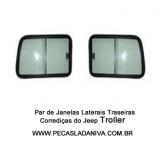 Janelas Laterais Traseiras Corrediças Jeep Troller Até 2009  O Par(Nova)Ref.0326