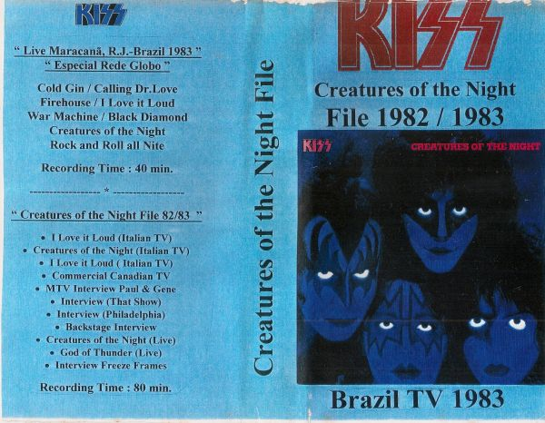 VHS - KISS - Creatures of the Night File 1982 / 1983