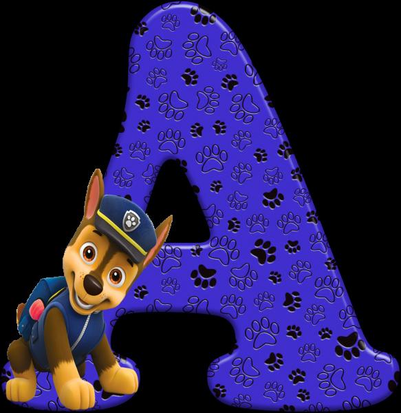 Alfabeto - Patrulha Canina - Chase 2 - PNG