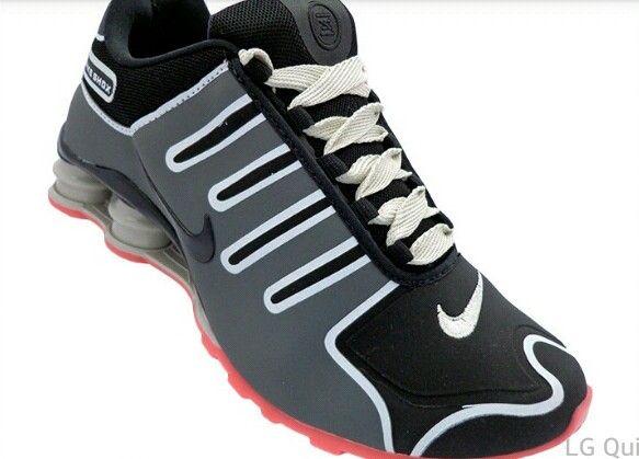 cfb7f04ae2 Tênis Nike Shox NZ Grafite e Salmão MOD 12301  1ª Linha  - Loja de ...