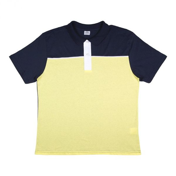 Camisa Polo Masculina Azul E Amarela Camisaria Colombo - Mundo ... b597df5cdf34f