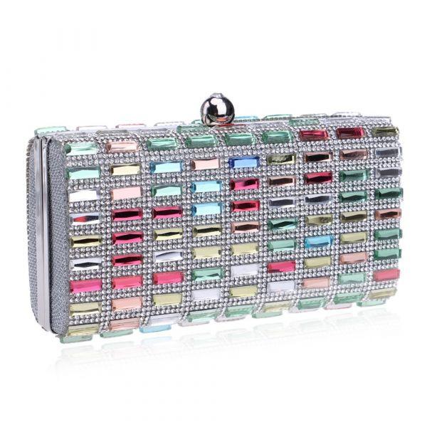 ca4063a95 Bolsa Feminina De Mão E Ombro Com Diamantes P/ Noite Elegant - Mini ...
