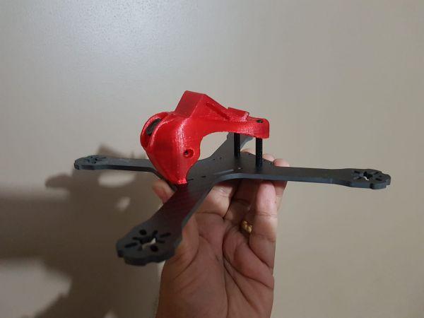 POD em TPU p/ Frame QAV-X  & Realacc X210 COR: Vermelho