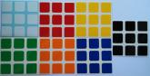 Z 56~57mm Adesivo Cubo Mágico 7 cores no padrão Dayan