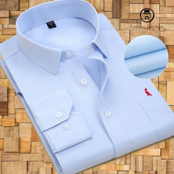 Camisa Social Azul 2018