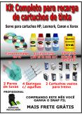 Kit De Tintas Para Recarga Até 500 Cartuchos De Impressoras