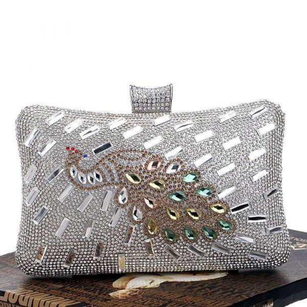 16fd45e0b Bolsa Feminina De Mão E Ombro Com Diamantes P/ Noite Mulher - Mini ...