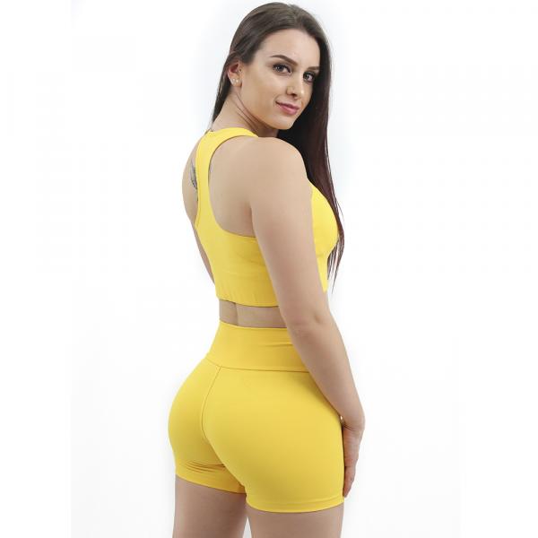 Shortinho Liso Térmico Amarelo Emana