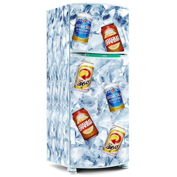 Adesivo Geladeira Inteira Cerveja ~ Adesivo para envelopamento de geladeira Cerveja Lata no
