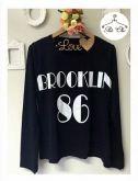 Tee Brooklin 86  { Preta }