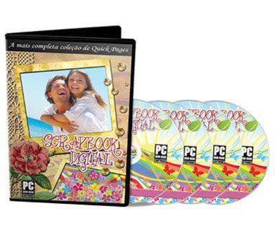 Coleção ScrapBook Digital - 10 DVDs c/ QuickPages