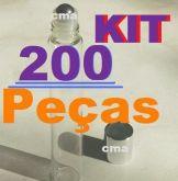 200 Roll On Frasco Labial Vidro Liso 10ml