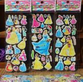 Cartela de adesivos - Princesas da Disney