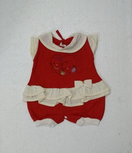 Macacão de Bebê curto Gatinha