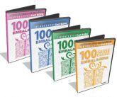 400 moldes de Mini Embalagens - PACOTE COM 4 CDs