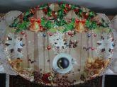 Bandeja Plástica Natalina Oval Rasa Café Grande 3x36x47 cm