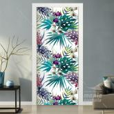 Adesivo para Porta Tropical Colorido