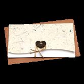 Cartão Artesanal Rústico em branco R1J