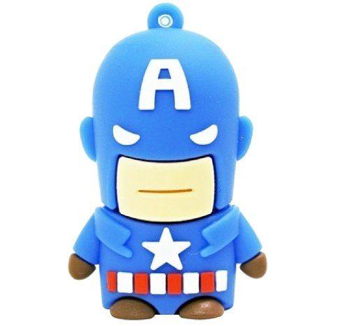 Capitão América 4gb Pendrive