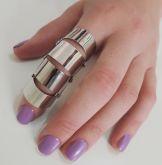 anel dedo robô dobrável