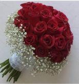 Buque de noiva com 20 rosas ref.055