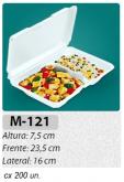 M-121 BANDEJA C/ TAMPA ARTICULADA C/ 200 UN.