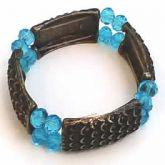 Bracelete cristal azul