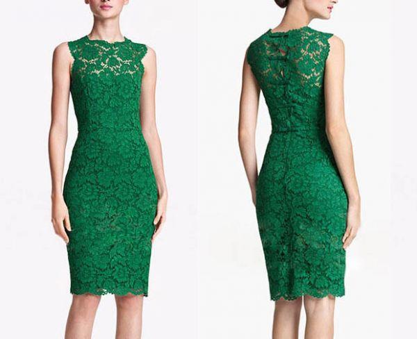 22ab36766 Vestido de Renda Verde - ModaPretty