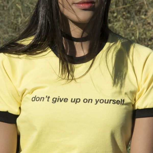 T-SHIRT DONT GIVE UP ON YOURSELF